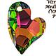 Для украшений ручной работы. Ярмарка Мастеров - ручная работа. Купить 4 цветов внутри! Подвеска СЕРДЦЕ АХ 6261  Сваровски. Handmade.