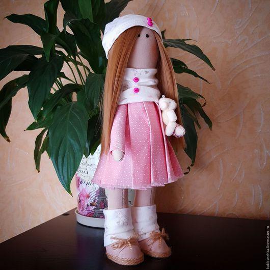 Куклы тыквоголовки ручной работы. Ярмарка Мастеров - ручная работа. Купить Кукла Снежка. Handmade. Кремовый, большеногая кукла, Снежка
