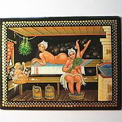 Русский стиль handmade. Livemaster - original item lacquer box with the author`s painting