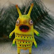 Подарки к праздникам ручной работы. Ярмарка Мастеров - ручная работа Новогодний ватный жук. Handmade.