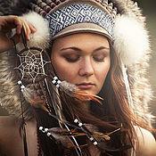 Одежда handmade. Livemaster - original item Indian headdress - Silver Dreams. Handmade.