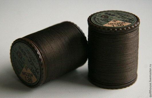Шитье ручной работы. Ярмарка Мастеров - ручная работа. Купить Японские нитки для стежки, №136. Handmade. Коричневый, Нитки, стежка