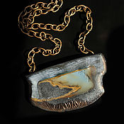 handmade. Livemaster - original item Ami porcelain pendant