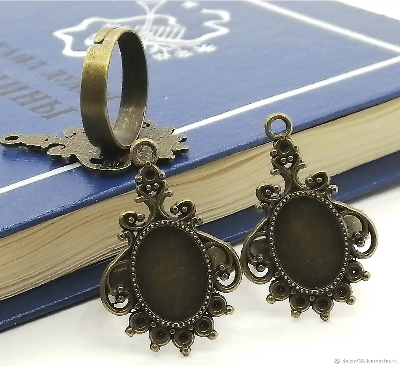 Ring base, ,10h14 mm. Art.OK33, Blanks for jewelry, Irkutsk,  Фото №1