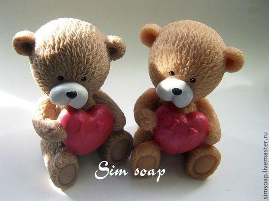 Мыло ручной работы. Ярмарка Мастеров - ручная работа. Купить Мишутка. Handmade. Мишка, мишутка, медведь, медвежонок с сердечком, сердце