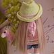 Коллекционные куклы ручной работы. Текстильная куколка- малышка Леся. Юлия Соколова. Ярмарка Мастеров. Кукла в шляпе, хлопок
