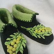 """Обувь ручной работы. Ярмарка Мастеров - ручная работа домашние валеночки """"Мимоза"""" в наличии 38 размер.проданы. Handmade."""