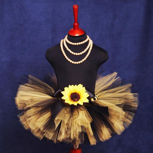 """Одежда для девочек, ручной работы. Ярмарка Мастеров - ручная работа. Купить """"Солнечный цветок"""" пышная юбка-пачка из фатина. Handmade."""