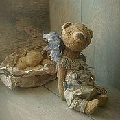"""Куклы и игрушки ручной работы. Ярмарка Мастеров - ручная работа """"Немного синего на рыжем"""" мишка тедди. Handmade."""