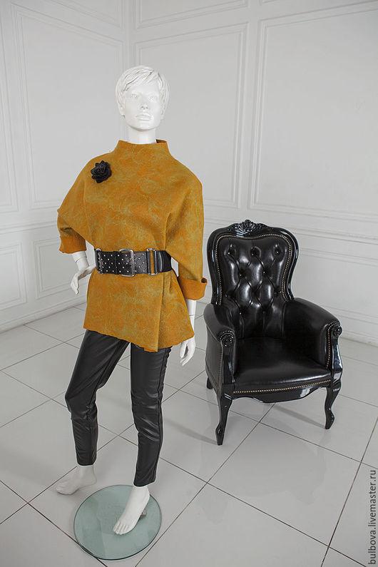 Кофты и свитера ручной работы. Ярмарка Мастеров - ручная работа. Купить Туника желтая войлочная. Handmade. Желтый, туника