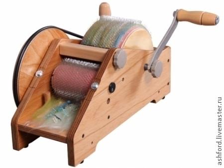 Валяние ручной работы. Ярмарка Мастеров - ручная работа. Купить Кардер барабанный узкий для шерсти и волокон. Handmade. Золотой