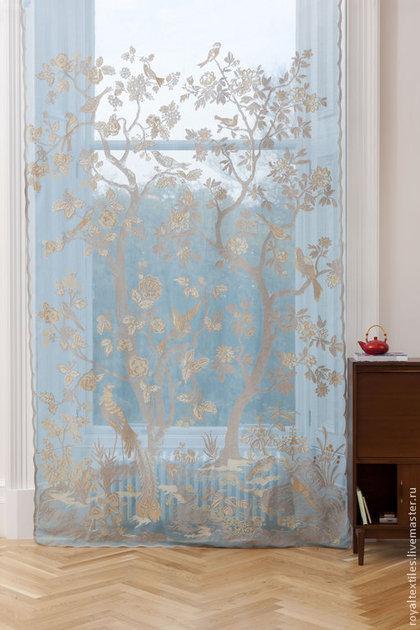 Шитье ручной работы. Ярмарка Мастеров - ручная работа Английская ткань тюль штора кружево Morton Young & Borland. Handmade.