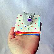 Куклы и игрушки ручной работы. Ярмарка Мастеров - ручная работа Мини книжка про маленького котенка. Handmade.