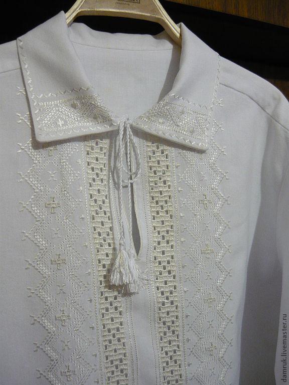 Вышивка белым по белому сорочки