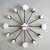 """Для дома и интерьера ручной работы. Ярмарка Мастеров - ручная работа Часы """"Черное и белое"""". Handmade."""