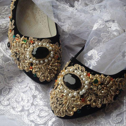 """Обувь ручной работы. Ярмарка Мастеров - ручная работа. Купить Балетки""""Treasure""""в стиле DG. Handmade. Итальянский стиль, дольче габбана"""