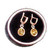 Украшения handmade. Livemaster - original item Amber earrings Honey natural stone earrings melh. with silver plating.. Handmade.