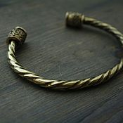 Украшения handmade. Livemaster - original item Bronze bracelet - Rune of Odin. Handmade.