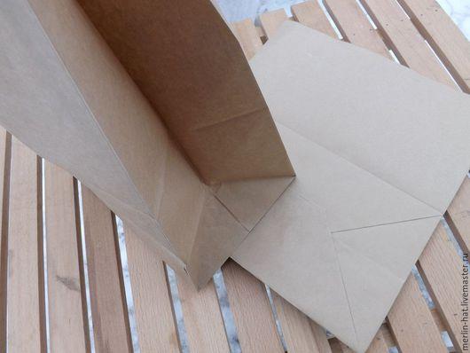 Упаковка ручной работы. Ярмарка Мастеров - ручная работа. Купить Большой Крафт пакет 24х14х40см. Handmade. Крафт, крафт упаковка