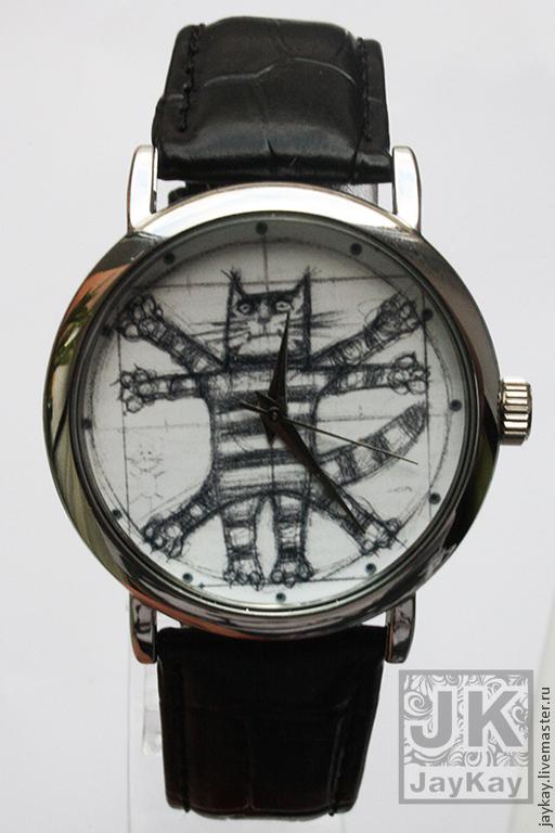 """Часы ручной работы. Ярмарка Мастеров - ручная работа. Купить Часы наручные JK """"Кот да Винчи"""". Handmade. Часы наручные"""