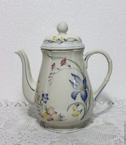 """Винтажная посуда. Ярмарка Мастеров - ручная работа. Купить Villeroy&Boch фарфоровый чайник, серия """"Ривьера"""". Handmade. Белый, чайник, для кухни"""
