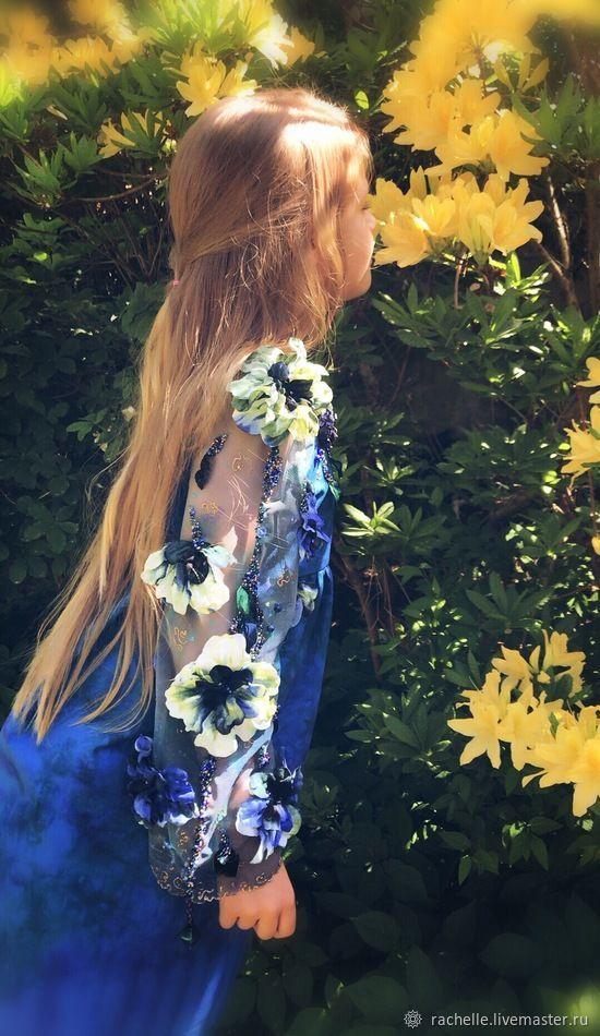 ,, Птичка Индиго,, детское платье с синими агатами, Платья, Рига,  Фото №1