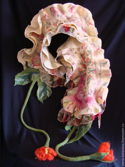 Шарфы и шарфики ручной работы. Ярмарка Мастеров - ручная работа. Купить горжетка шарфик. Handmade. Разноцветный, горжетка валяная