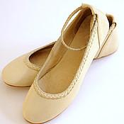 Обувь ручной работы. Ярмарка Мастеров - ручная работа Elf. Нарядные балетки. Женские кожаные для дома, офиса, прогулок. Handmade.