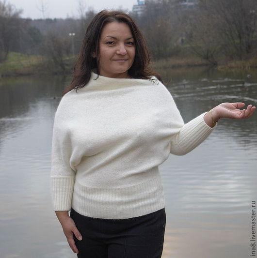 Кофты и свитера ручной работы. Ярмарка Мастеров - ручная работа. Купить Кофточка пуловер из ангорки цвет сливочный. Handmade.