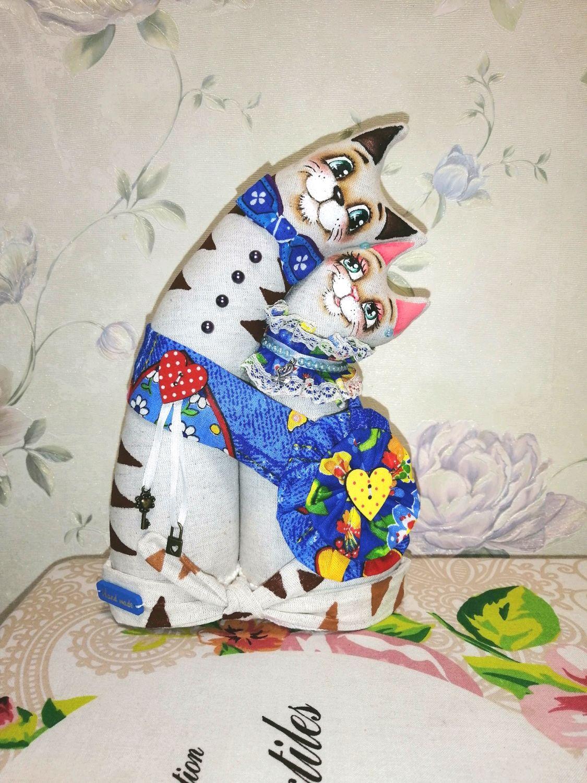 Неразлучники коты на ситцевую свадьбу, Мягкие игрушки, Ставрополь,  Фото №1