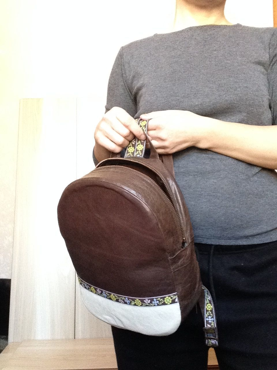 Backpacks handmade. Livemaster - handmade. Buy Backpack 'Coffee with milk' with a pattern of braid of leather in two colors.