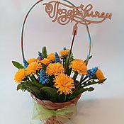 handmade. Livemaster - original item Bouquet of dandelions