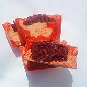 """Косметика ручной работы. Ярмарка Мастеров - ручная работа """"Шелковая роза"""",натуральное мыло с шелком. Handmade."""