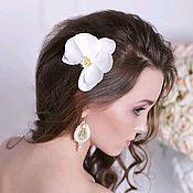 Заколки ручной работы. Ярмарка Мастеров - ручная работа Орхидея заколка- зажим для волос. Handmade.
