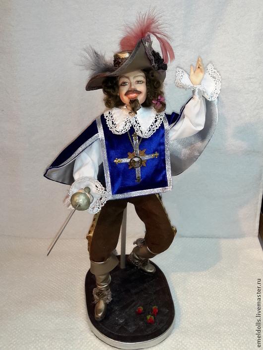 Коллекционные куклы ручной работы. Ярмарка Мастеров - ручная работа. Купить Мушкетер короля. Handmade. Тёмно-синий, винтажные сапоги