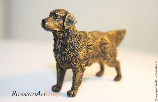 Статуэтки ручной работы. Ярмарка Мастеров - ручная работа. Купить ЗОЛОТИСТЫЙ РЕТРИВЕР - статуэтка (оловянная миниатюрная фигурка собаки. Handmade.
