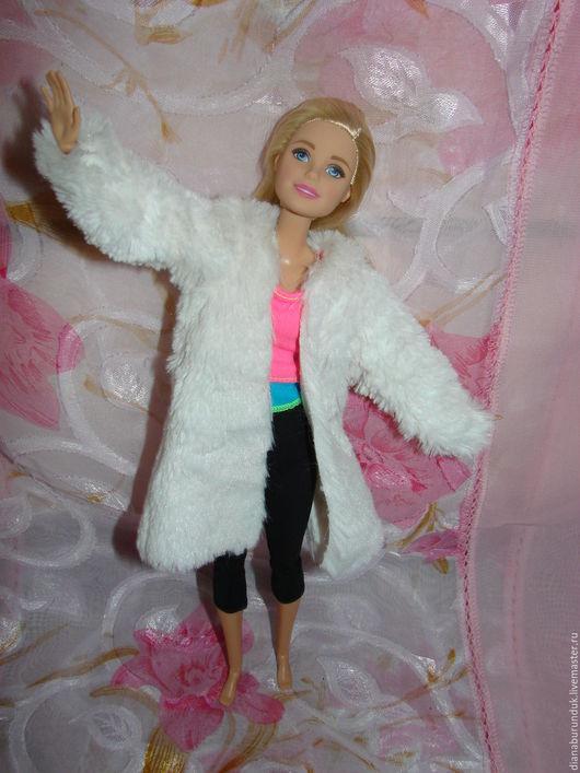 Одежда для кукол ручной работы. Ярмарка Мастеров - ручная работа. Купить Шуба для Барби.. Handmade. Белый, шуба для барби, нитка