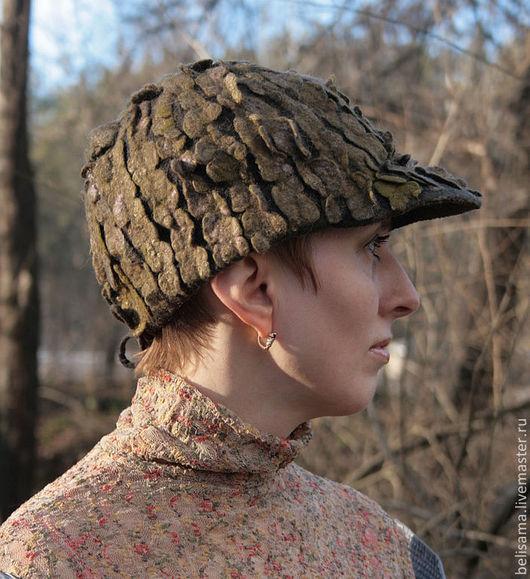 """Кепки ручной работы. Ярмарка Мастеров - ручная работа. Купить """"Слиться с природой"""" войлочная арт-кепка. Handmade. Арт-шапка"""