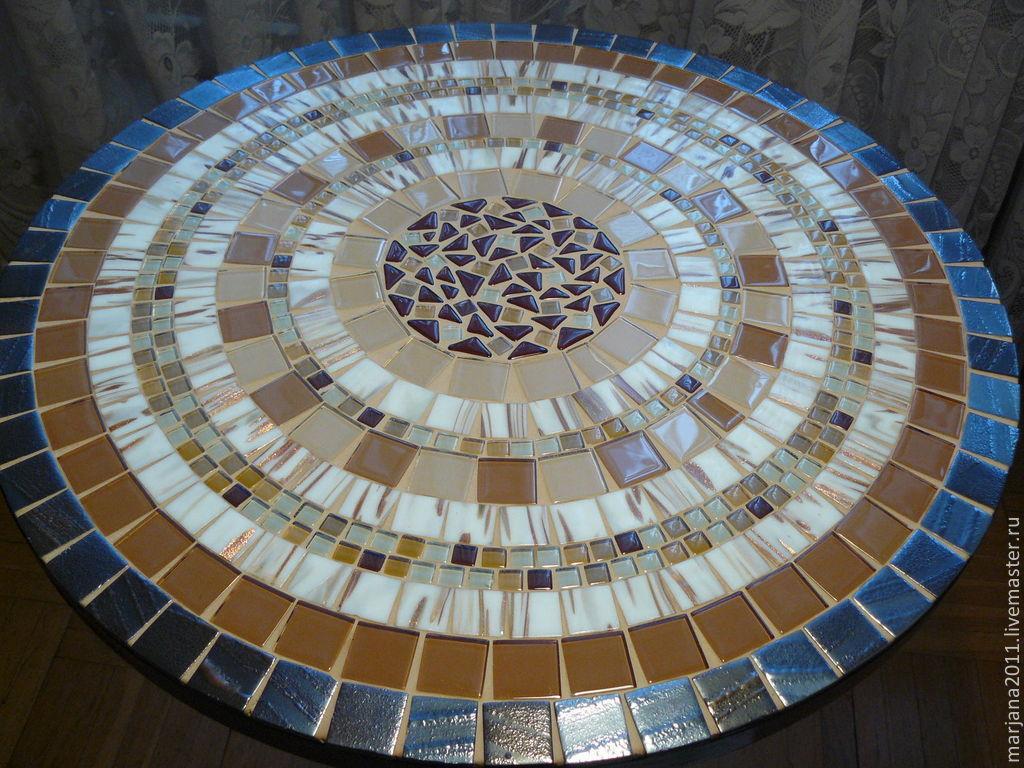 48Как сделать мозаичный столик мастер класс