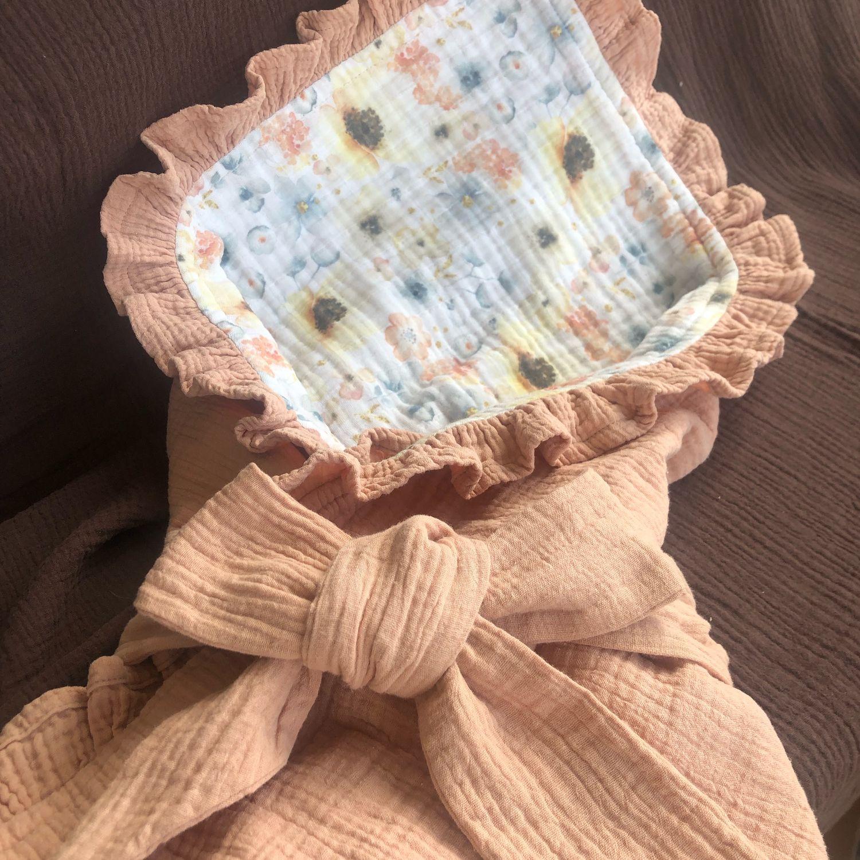 Одеяло муслиновое на выписку, Пледы для детей, Москва,  Фото №1