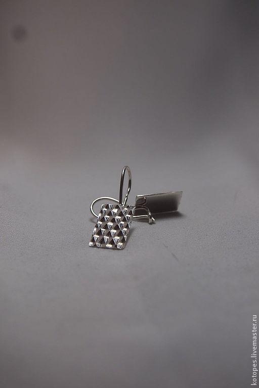 Серьги ручной работы. Ярмарка Мастеров - ручная работа. Купить Серьги с алмазной гранью.. Handmade. Серебряный, серебряные серьги