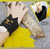 """Украшения ручной работы. Ярмарка Мастеров - ручная работа Браслет """"Черный кот"""".. Handmade."""