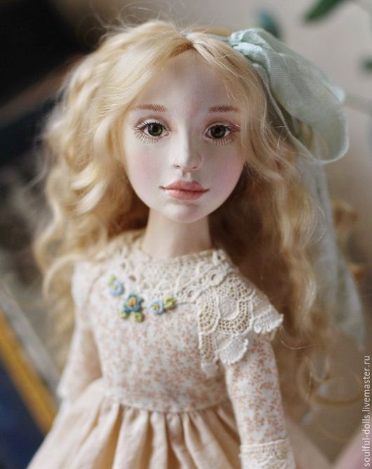 Коллекционные куклы ручной работы. Ярмарка Мастеров - ручная работа. Купить Нелли. Handmade. Бежевый, кукла интерьерная, кукла