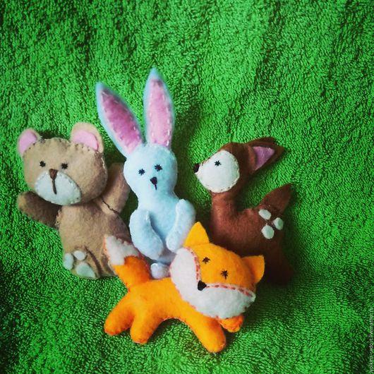 Игрушки животные, ручной работы. Ярмарка Мастеров - ручная работа. Купить Игрушки для мобиля. Handmade. Комбинированный, игрушка для малыша, фетр
