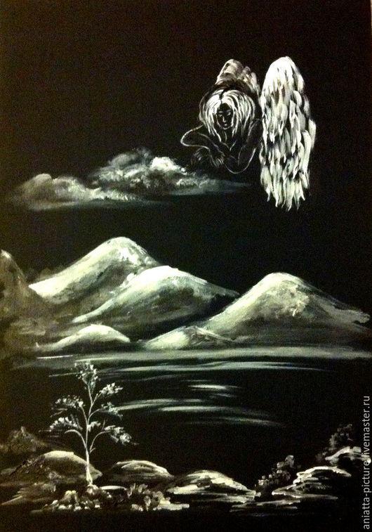 """Символизм ручной работы. Ярмарка Мастеров - ручная работа. Купить """"Ангел"""". Handmade. Черный, ангел, страж, оберег, оберег для дома"""
