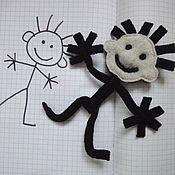Мягкие игрушки ручной работы. Ярмарка Мастеров - ручная работа Каркасная гибкая игрушка. Человечек. Handmade.