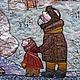 """Фэнтези ручной работы. панно """" Рождество"""". Марьяна. Интернет-магазин Ярмарка Мастеров. Рождественский подарок, для семьи"""