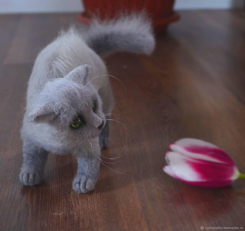 Felt toy: Prosha the kitten, Felted Toy, Simferopol,  Фото №1