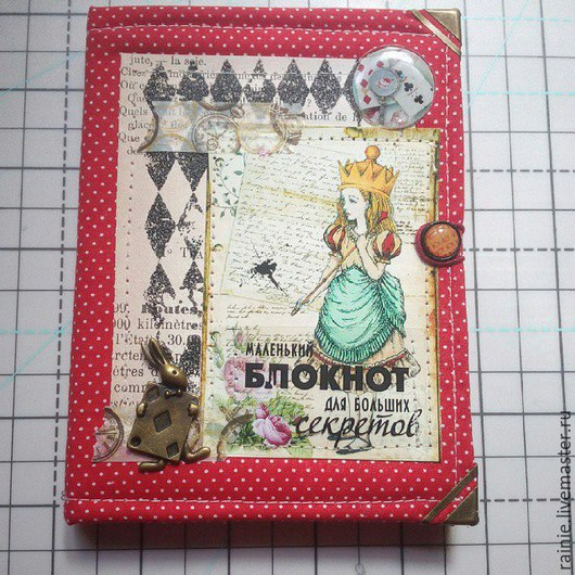 Блокноты ручной работы. Ярмарка Мастеров - ручная работа. Купить Блокнот Алиса. Handmade. Ярко-красный, алиса в стране чудес