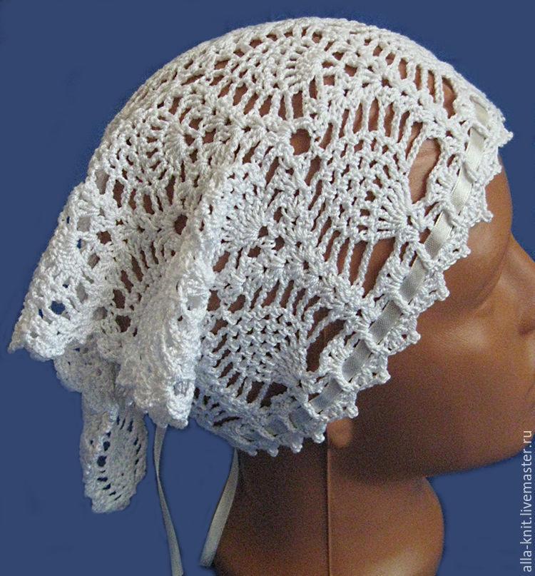 scarf crocheted openwork white, Bandanas, Shahty,  Фото №1